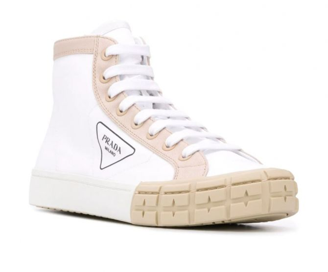 prada witte sneakers