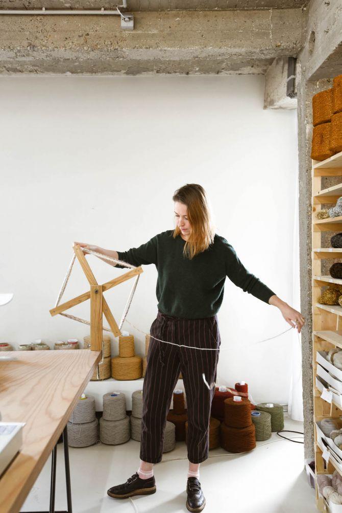 Jantine van Peski, Antwerpen, weven, textielkunst, wol, garen