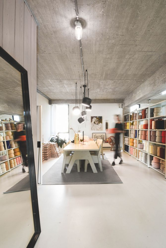 Jantine van Peski, Antwerpen, atelier, weven, wol