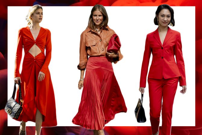 trendkleur zomer 2020 rood outfit