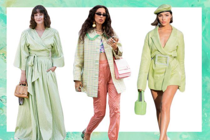 trend zomer 2020 outfit muntgroen