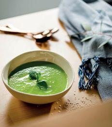 Snelle en gemakkelijke soep van courgette en kervel