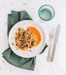 De Yellow Salad met pompoen en zoete aardappel van Alain Indria
