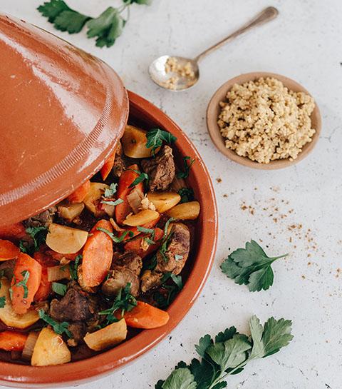 Recept: de gezonde tajine met lamsvlees van Alain Indria