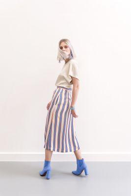 Mon Col SS20 Elba skirt stripes & Twist top cream
