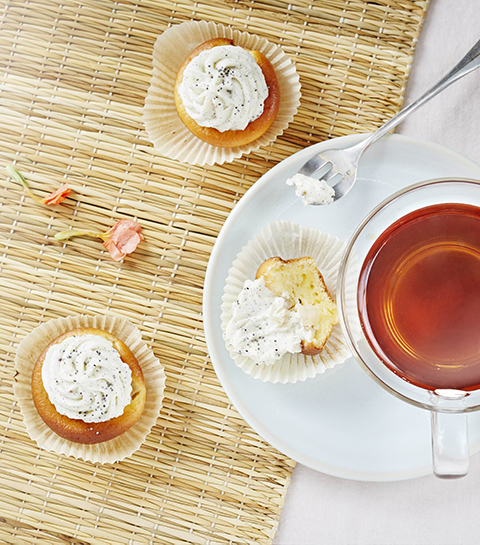 Recept: Peer en mascarpone cupcakes met mandarijnthee