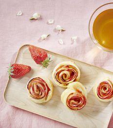 Recept: bladerdeegroosjes met rozenthee