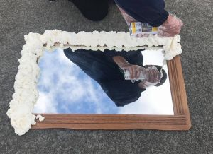 DIY foam mirror