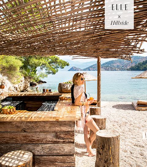 Zalig herbronnen in het paradijs aan de Egeïsche Zee