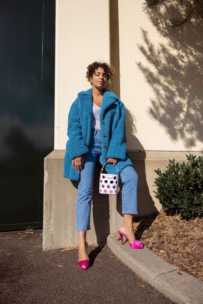 Body Pinko, Jeans Levi's, Mantel Essentiel, Tas Kate Spade