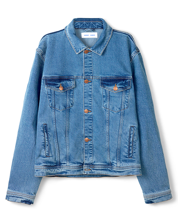 samsoe samsoe jeansjas eco denim duurzaam