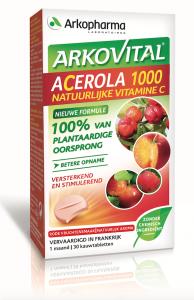 Acerola 1000 Natuurlijke Vitamine C, 30 kauwtabletten
