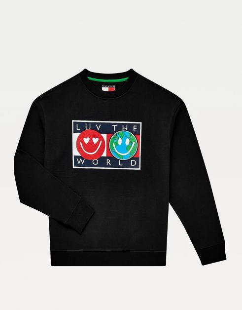 Luv The World sweatshirt met logo