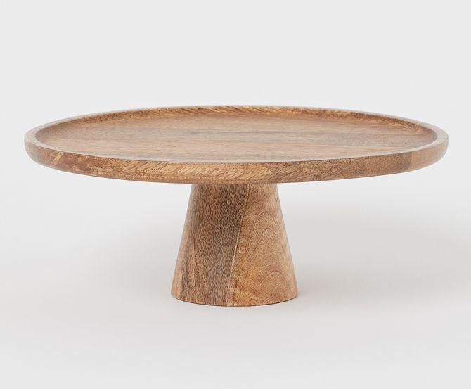 H&M Home, houten taartschotel