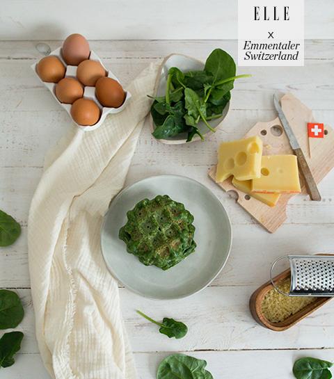 Wafel verde met Emmentaler AOP
