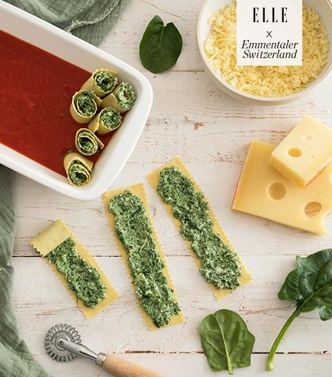 Lasagnerolletjes met Emmentaler AOP