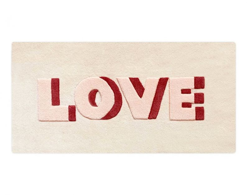 Vloerkleed 'love', Maison Deux, bijenkorf
