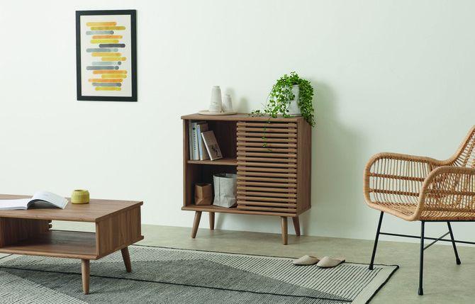 Woonkamer, minimalistisch opbergen, made.com