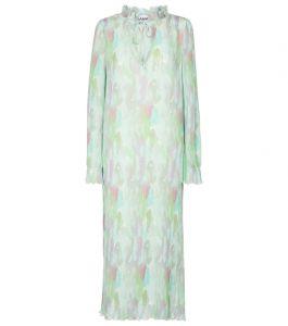 Ganni waterverf jurk Lente prints 2021