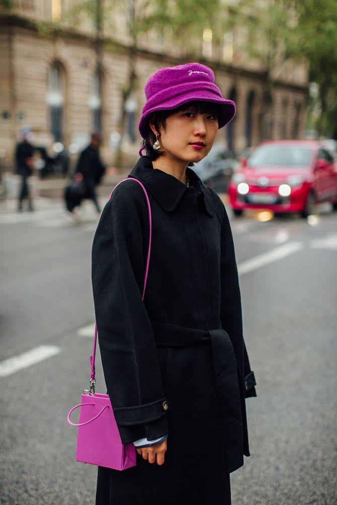 streetstyle bucket hat Jacquemus