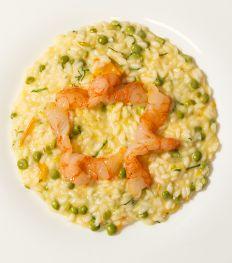 Recept: risotto met gele tomaat, garnalen en munt  van Carlo Cracco