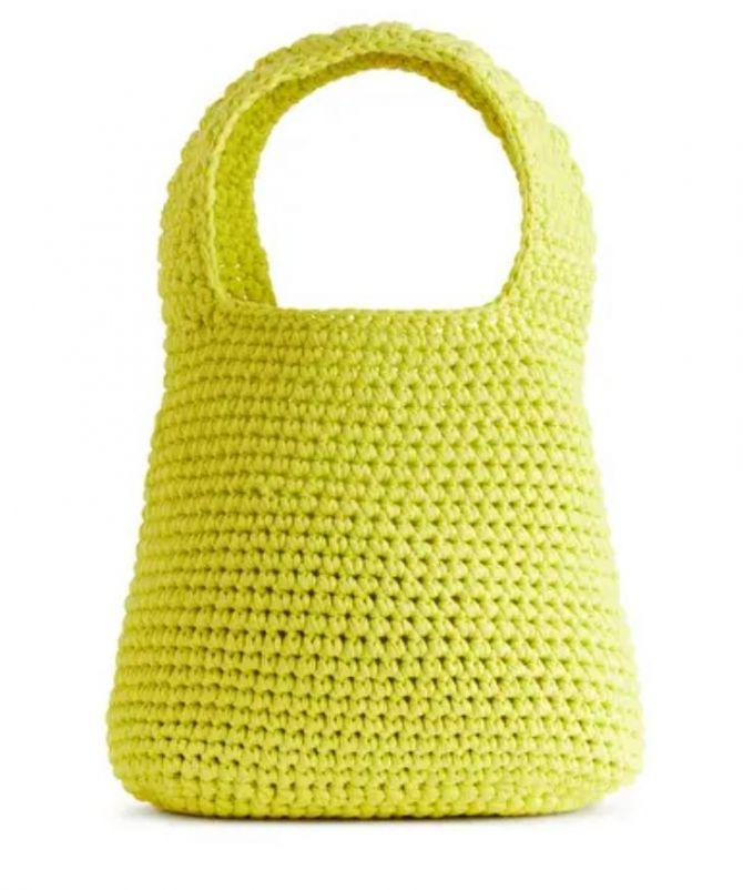 Crochet handtas, Arket,
