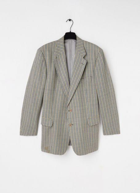 Vintage blazer van wol met ruitdessin Burberry €199,95