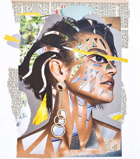 Affordable Art Fair 2021: woon een collageworkshop van kunstenares Veerle Symoens bij